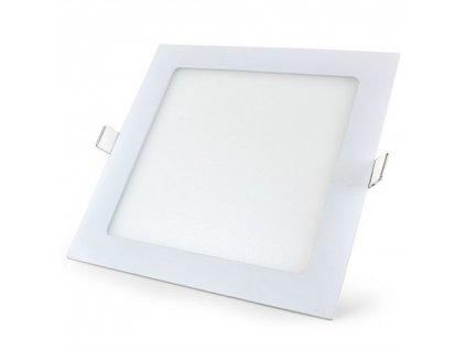 LED svídidlo čtverec 12W vestavné bílý rámeček 17x17cm