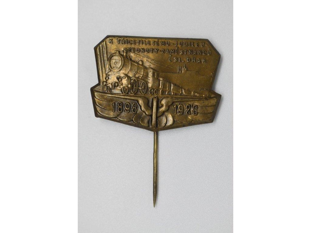 Třicetileté jubileum jednoty zaměstnanců Československých drah 1928