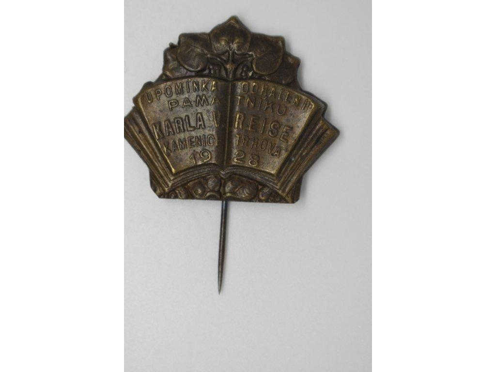 Upomínka na odhalení památníku K. V. Raise, Trhová Kamenice 1928