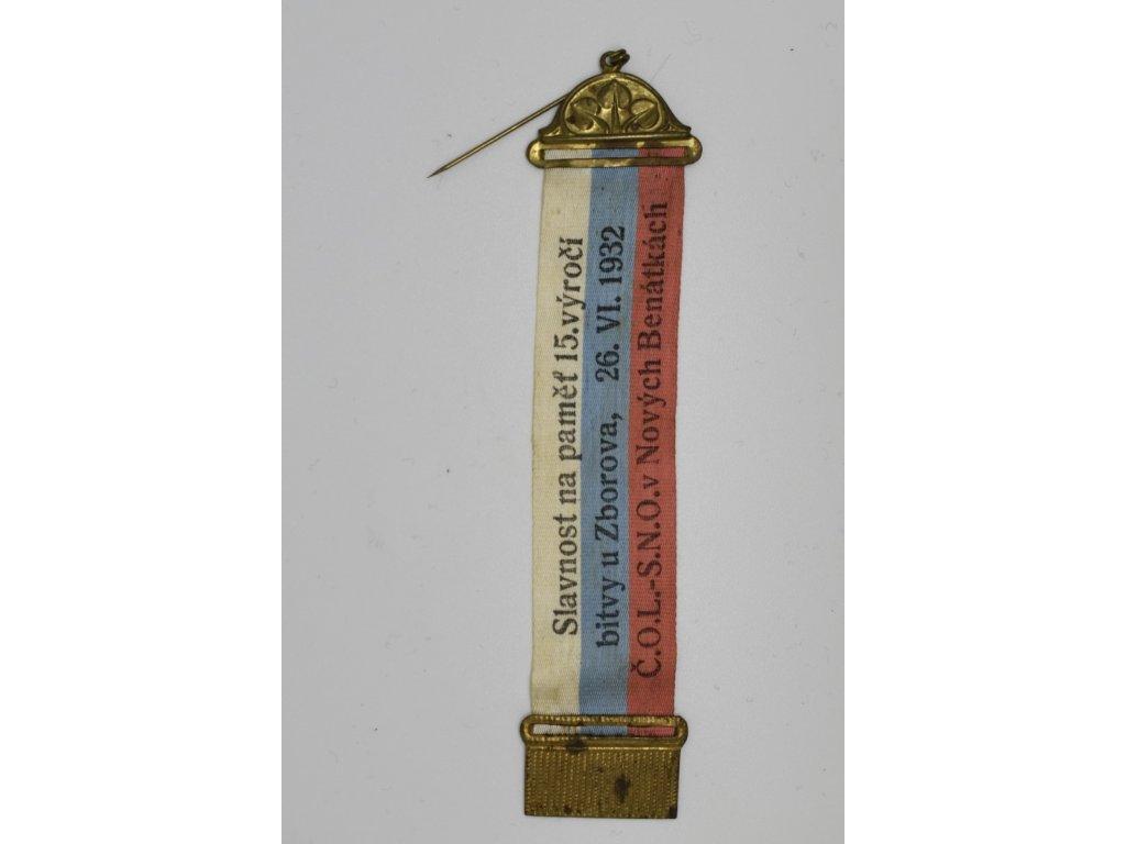 Slavnost na paměť 15. výročí bitvy u Zborova, Československá obec legionářská v Nových Benátkách 1932