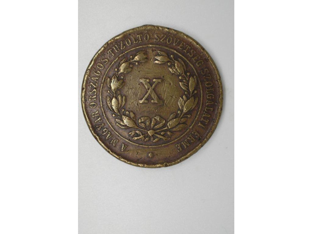 Hasičská uherská medaile, 1884