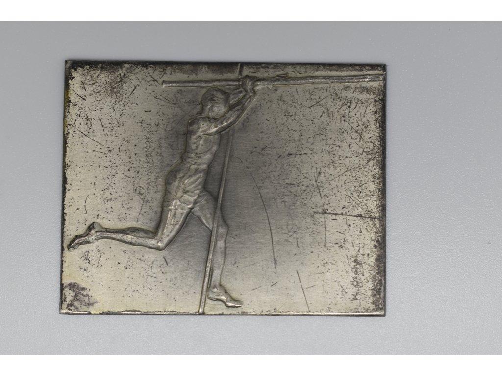 K Otáhal, sportovní plaketa - skok o tyči