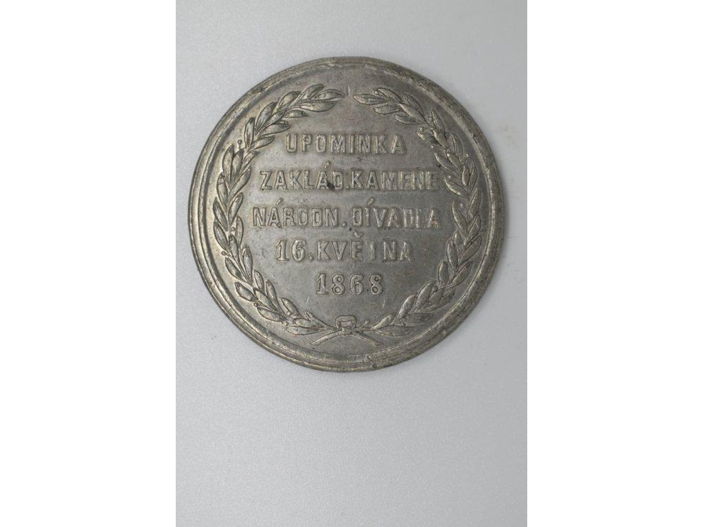 Upomínka základního kamene Národního divadla 1868