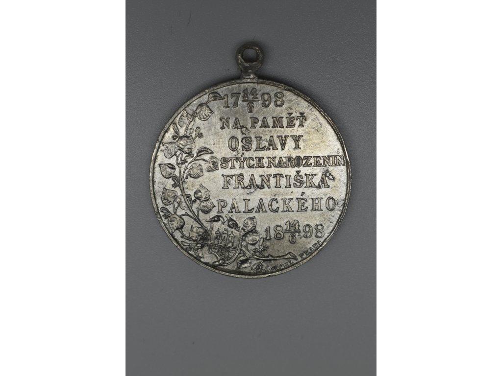 Na paměť oslavy stých narozenin Františka Palackého 1898