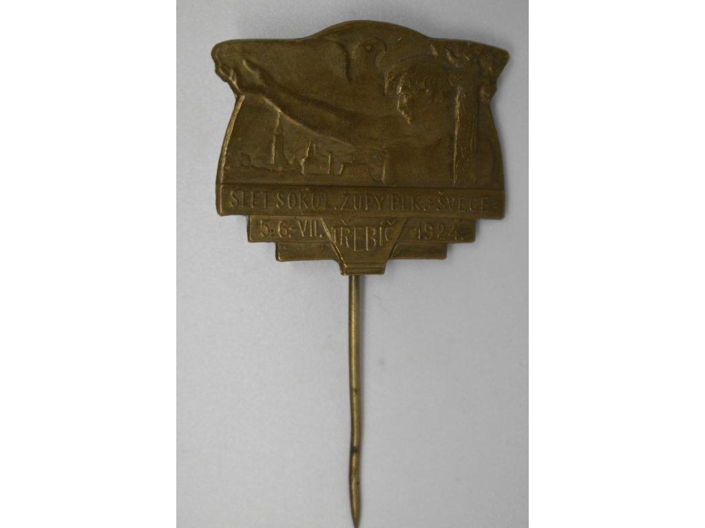 Slet sokolské župy Plukovníka Švece Třebíč 1924