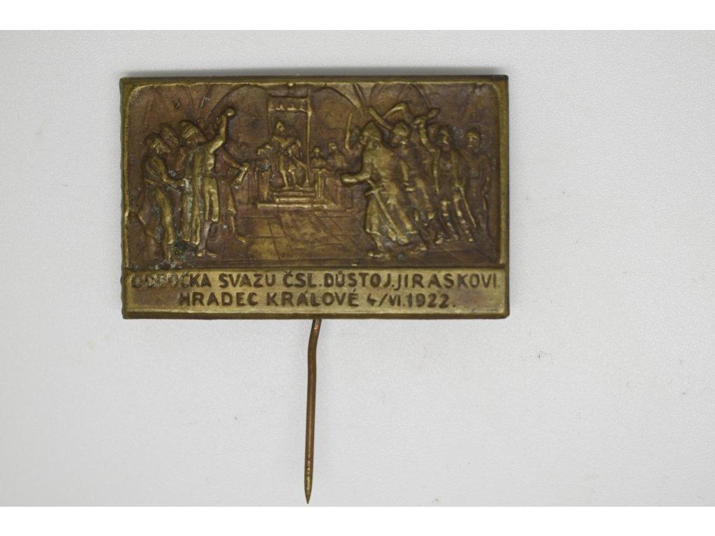 Odbočka svazu československého důstojnictva Jiráskovi, Hradec Králové 1922