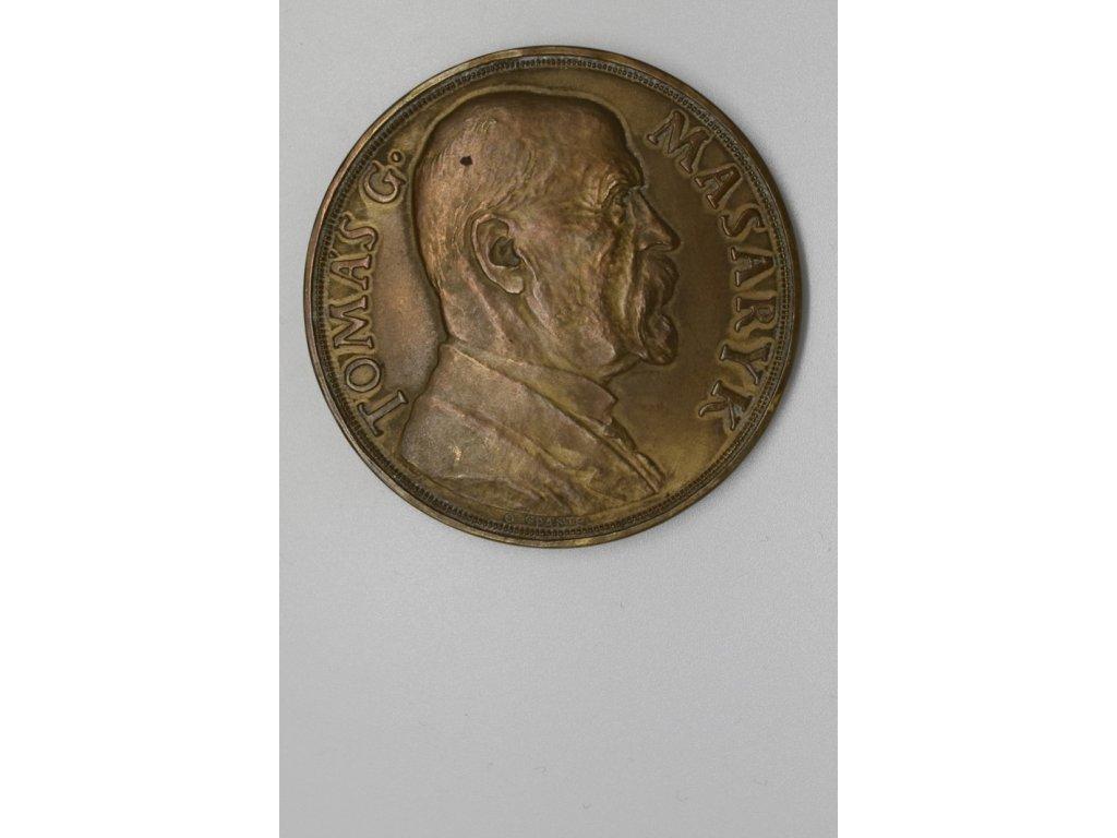 Na paměť 85. narozenin T. G. Masaryka 1935, 60 mm, Španiel