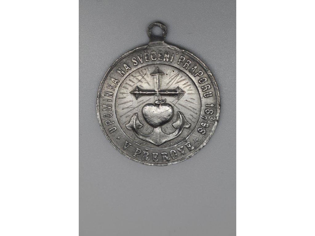 Upomínka na svěcení praporu Jednoty svatého Josefa v Přerově 1898
