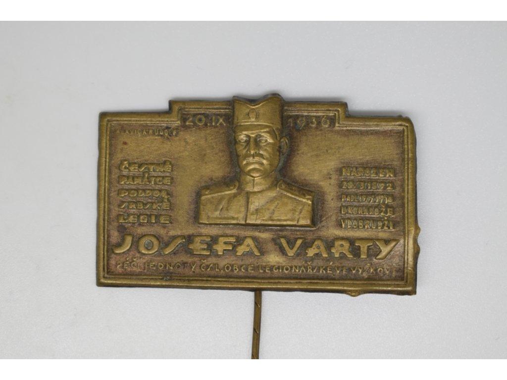 Památce ppor. Josefa Varty, ČsOL ve Vyškově 1936