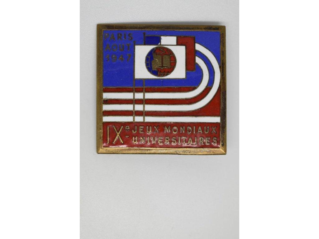 9. Světové universitní hry v Paříži 1947