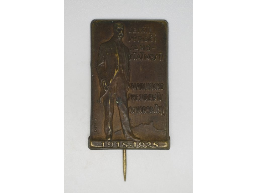 Desáté výročí samostatni, Pardubicko presidentu osvoboditeli 1928