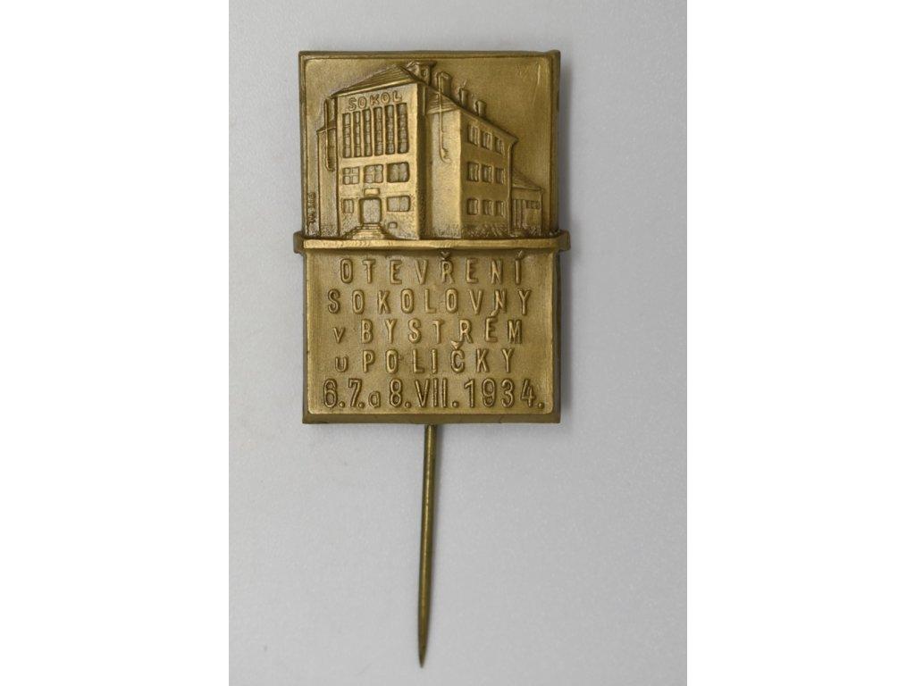 Otevření sokolovny v Bystrém u Poličky 1934