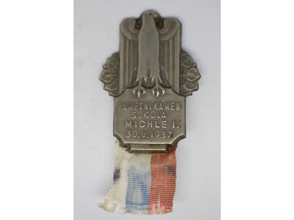 Pamětní kámen Sokola Michle I. 1937