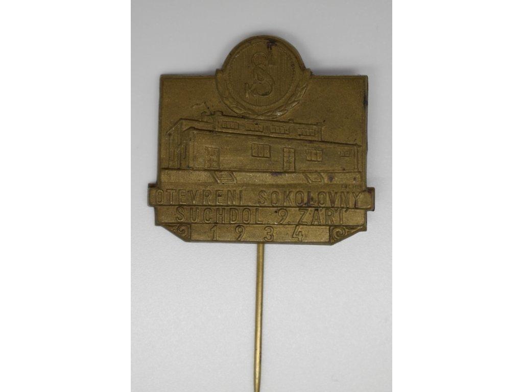 Otevření sokolovny Suchdol 1934