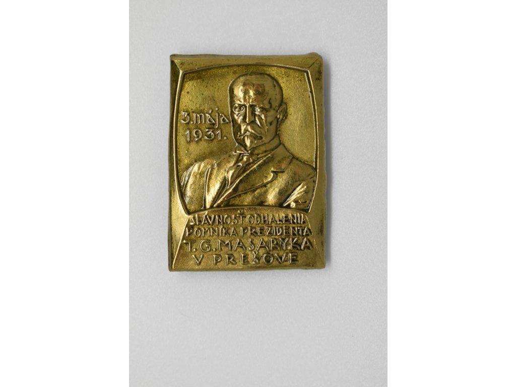 Slavnost odhalení pomníku T. G. Masaryka v Prešově 1931