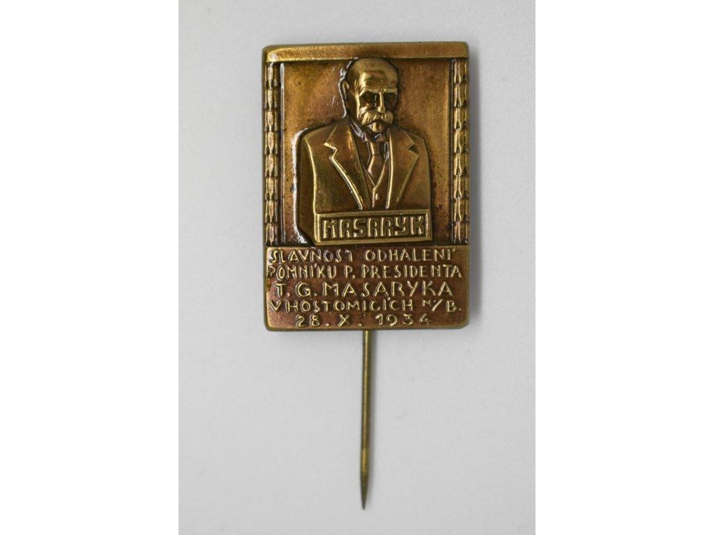 Slavnost odhalení pomníku T. G. Masaryka v Hostomicích nad Bílinou 1934