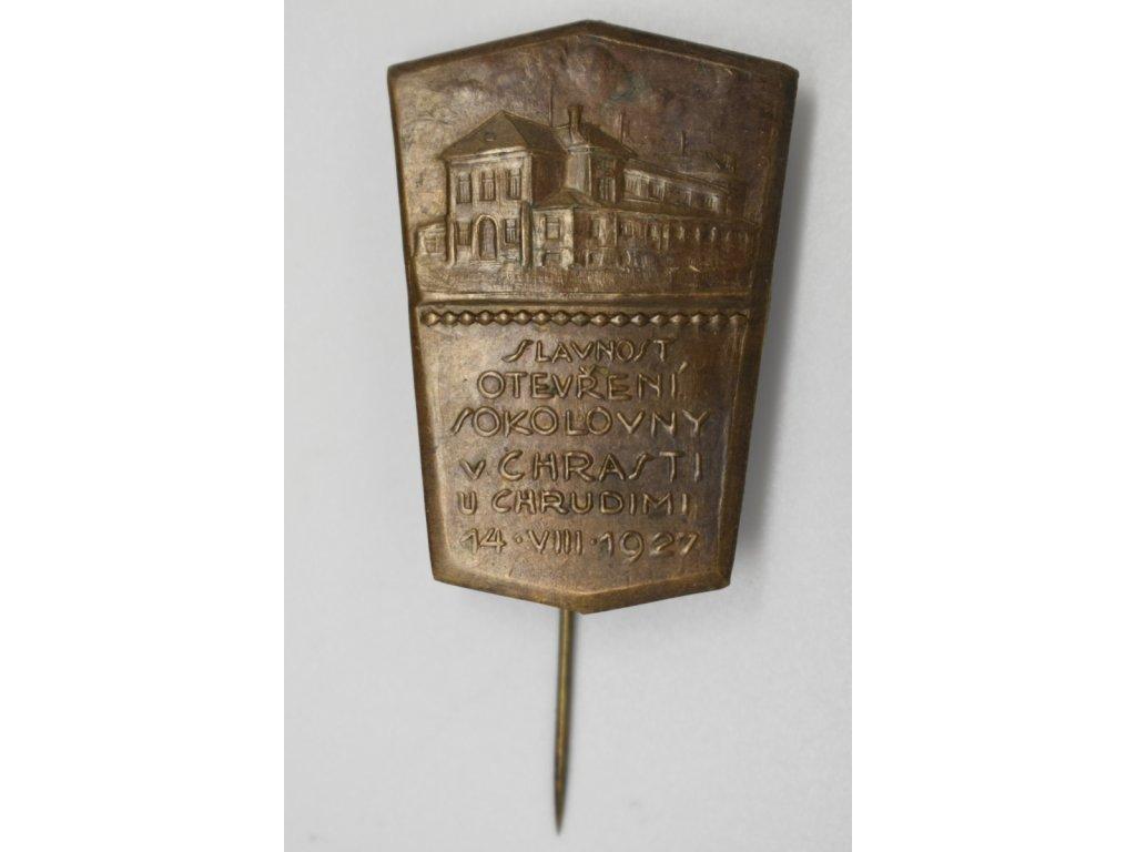 Slavnost otevření sokolovny v Chrasti u Chrudimi 1927