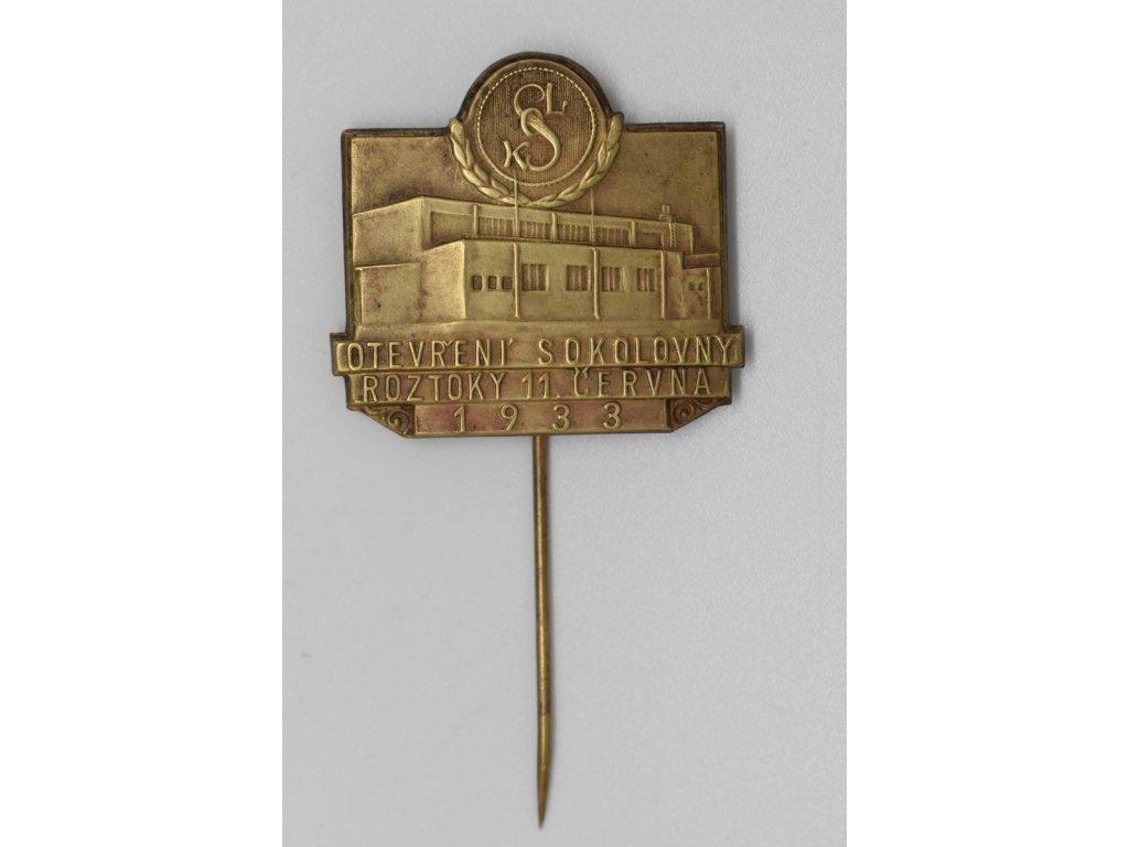 Otevření sokolovny Roztoky 1933