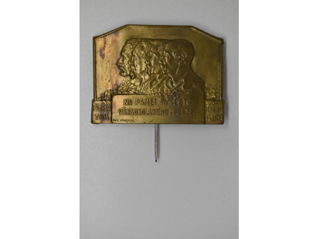 Na paměť VIII. sletu všesokolského v Praze 1926