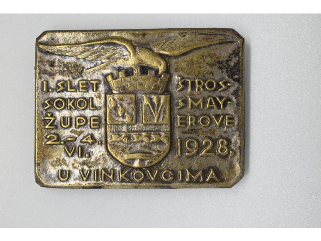 I. slet sokolské župy Štrossmayerovy ve Vinkovci 1928