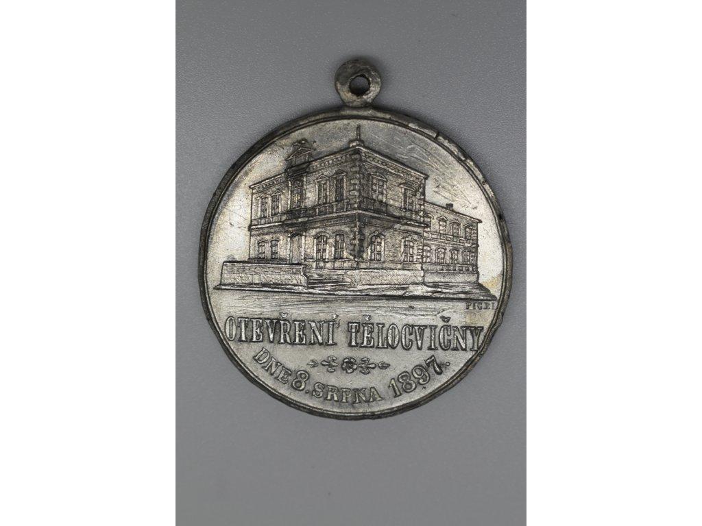Upomínka na slavnost otevření tělocvičn a 25 let tělocvičné jednoty Sokol v Přerově 1897