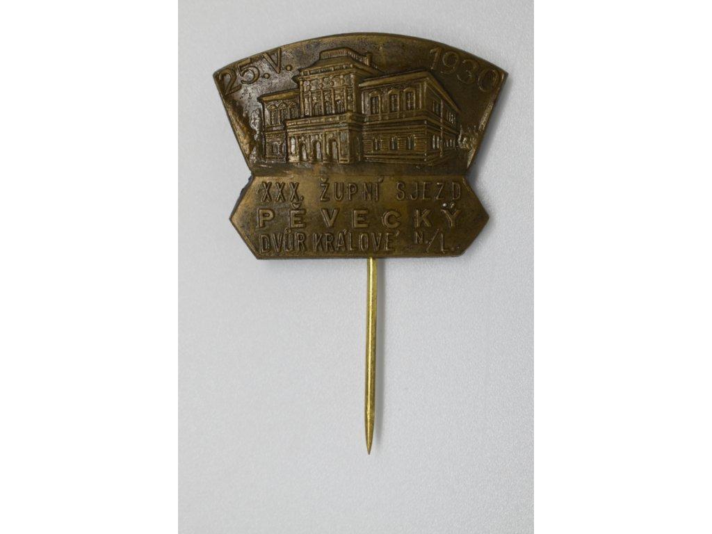 XXX. Župní sjezd pěvecký Dvůr Králové nad Labem 1930