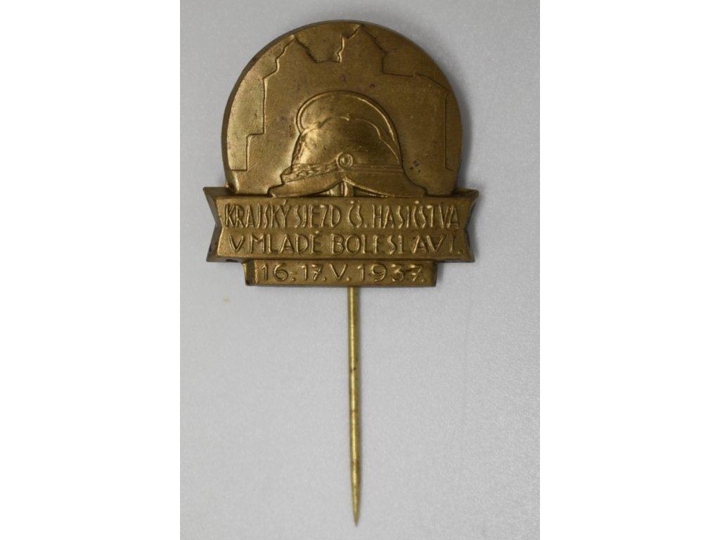 Krajský sjezd československého hasičstva v Mladé Boleslavi 1937