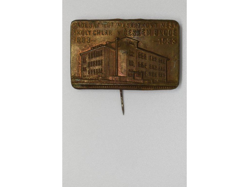 Padesát let Masarykovy měšťanské školy chlapecké v Českém Brodě 1933