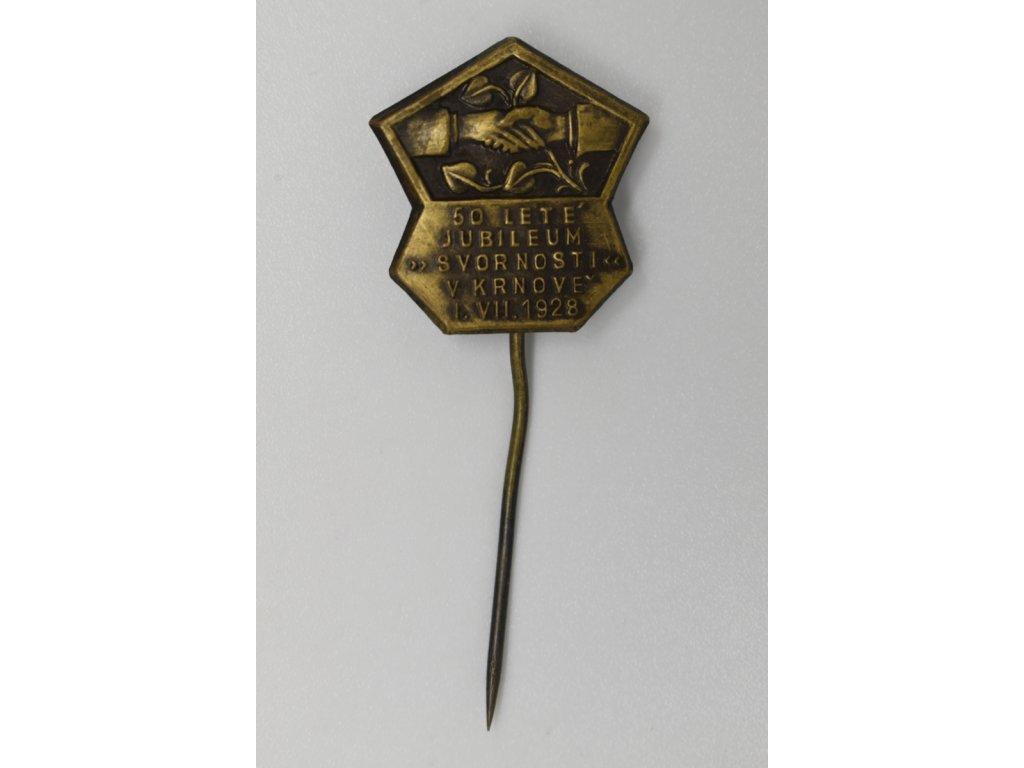 50 leté jubileum jednoty Svornost v Krnově 1928