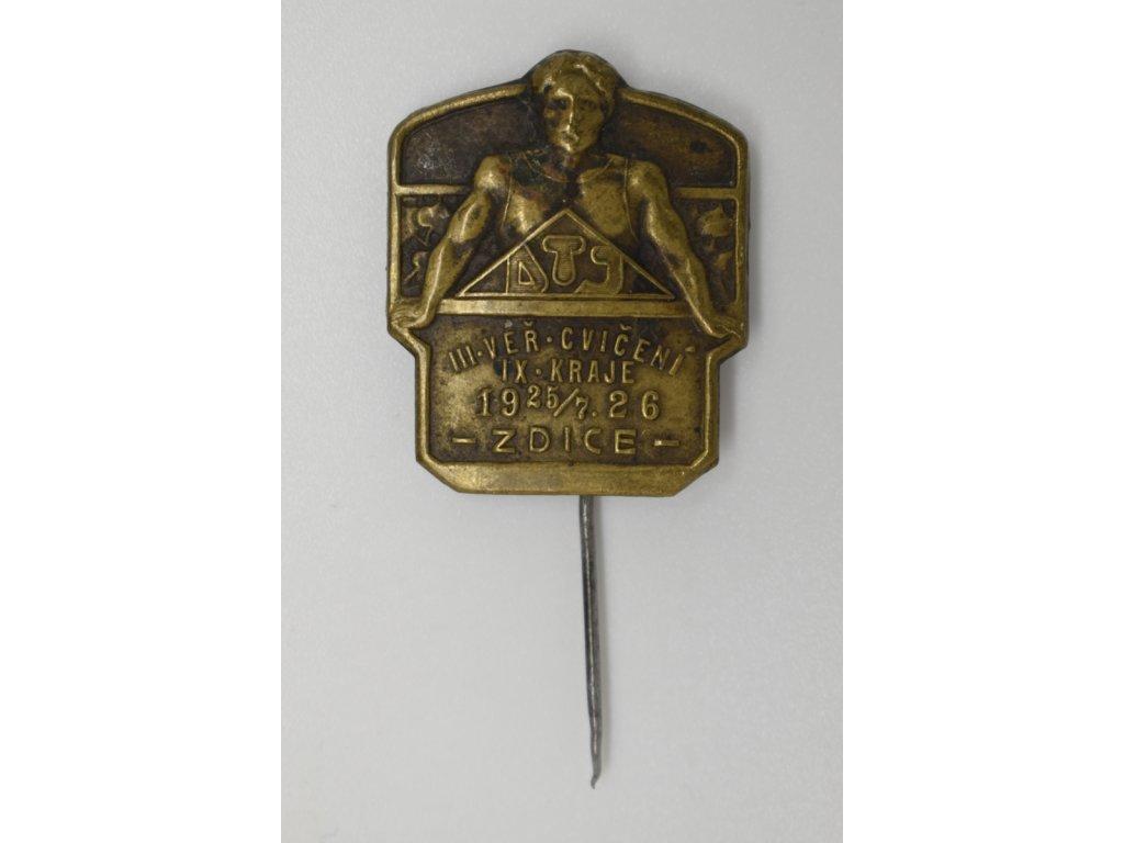 III. Veřejné cvičení IX. kraje DTJ Zdice 1926