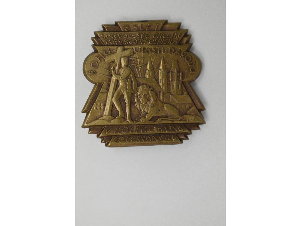3. Slet středočeské orelské župy Bedřicha Pospíšila v Kolíně nad Labem 1926