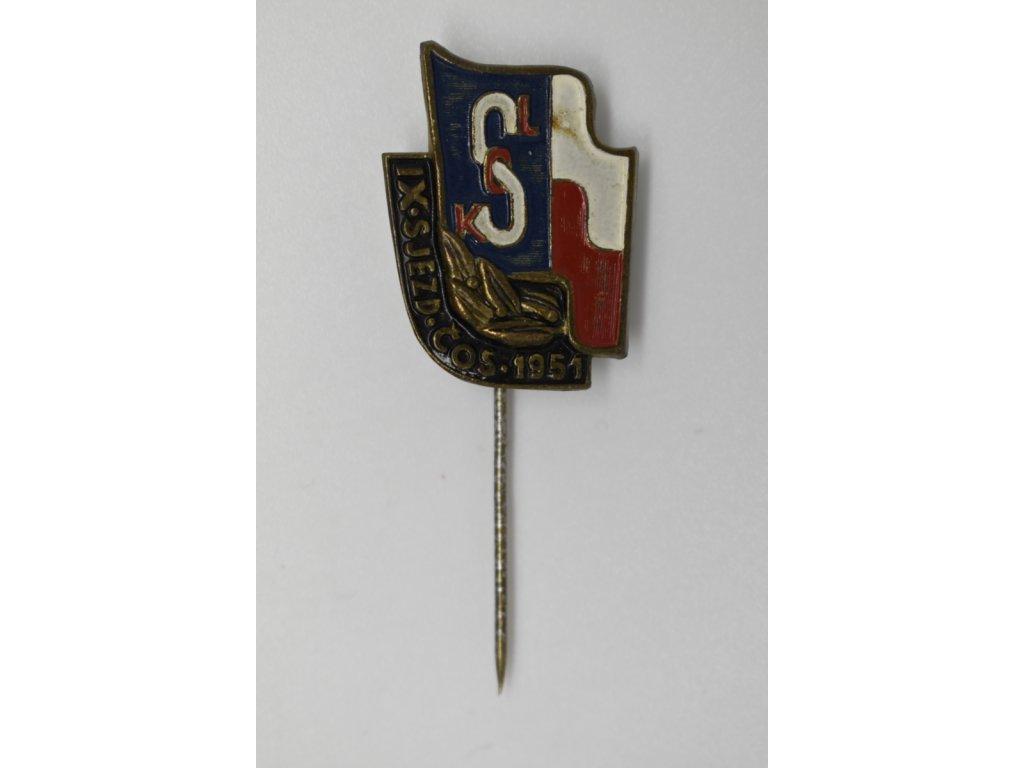 IX. Sjezd ČOS 1951