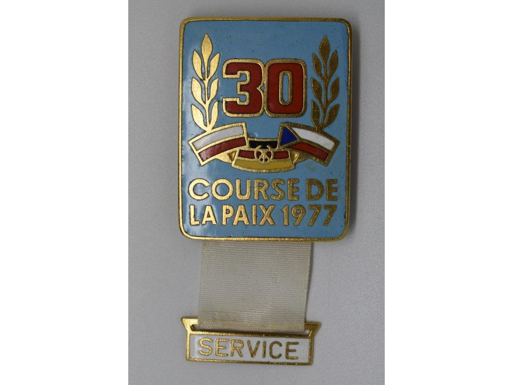 Cyklistický závod míru - služba 1977