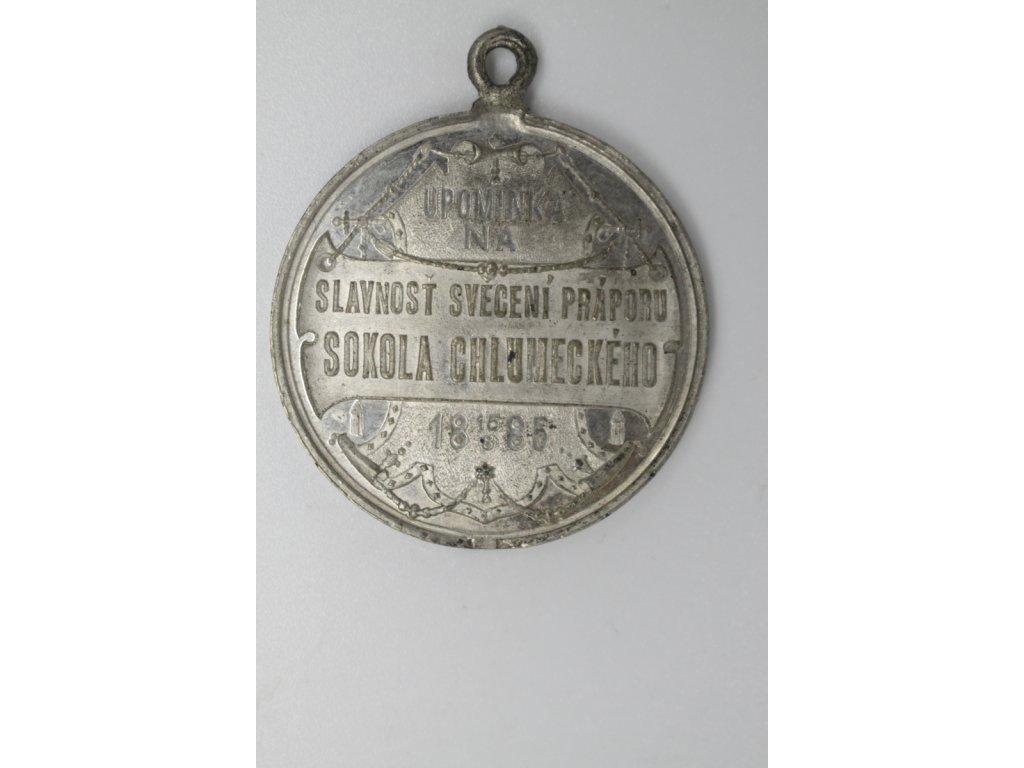 Slavnost svěcení praporu Sokola chlumeckého 1885