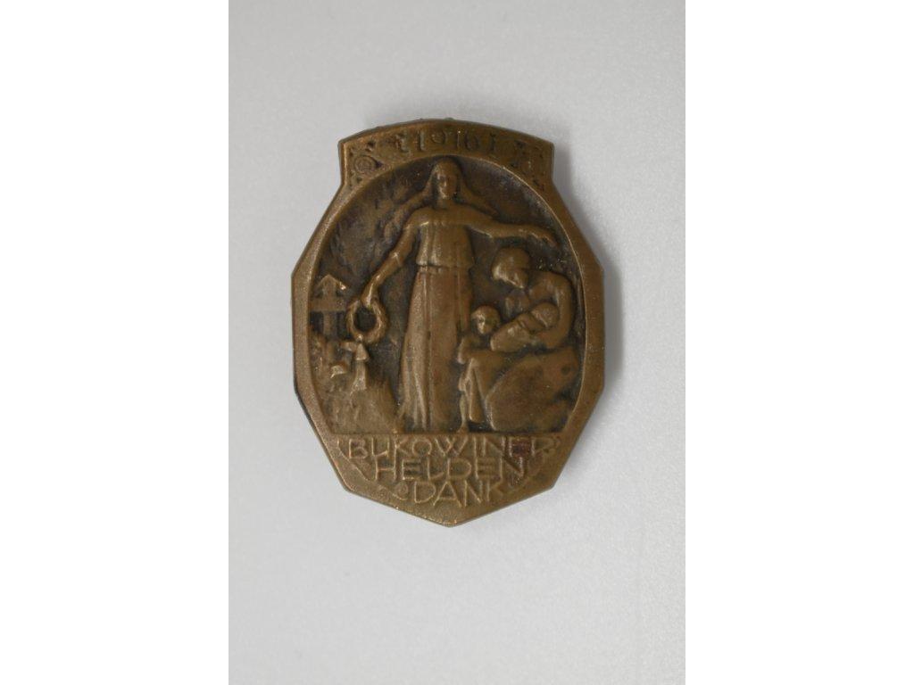 Čepicový odznak RU - Děkujeme hrdinům Bukoviny 1916