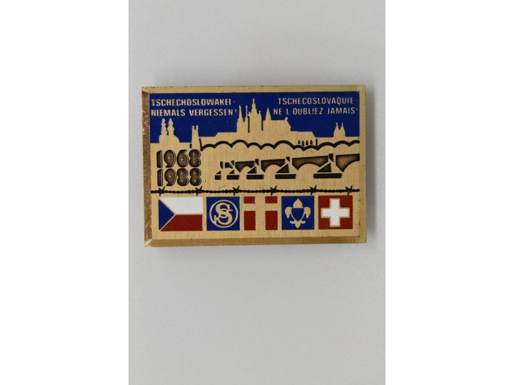 Nikdy nezapomenu na Československo - 20 let výročí od vpádu vojsk Varšavské smlouvy, Sokol a Junák ve Švýcarsku 1988