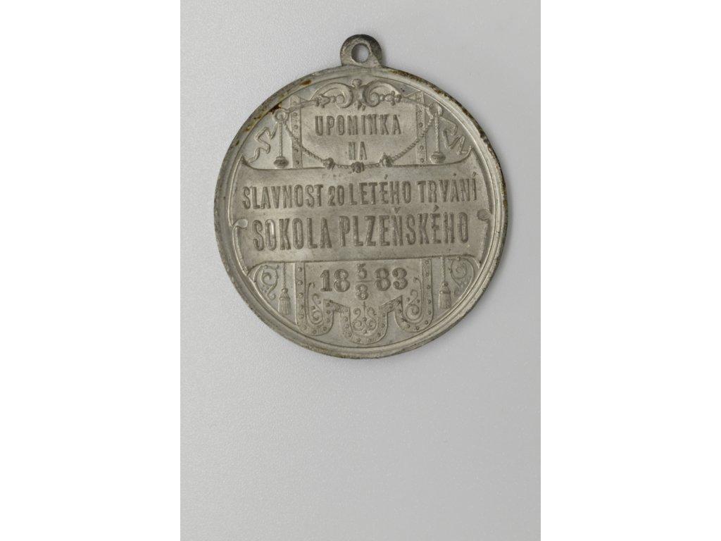 Upomínka na slavnost 20 letého trvání Sokola plzeňského 1883