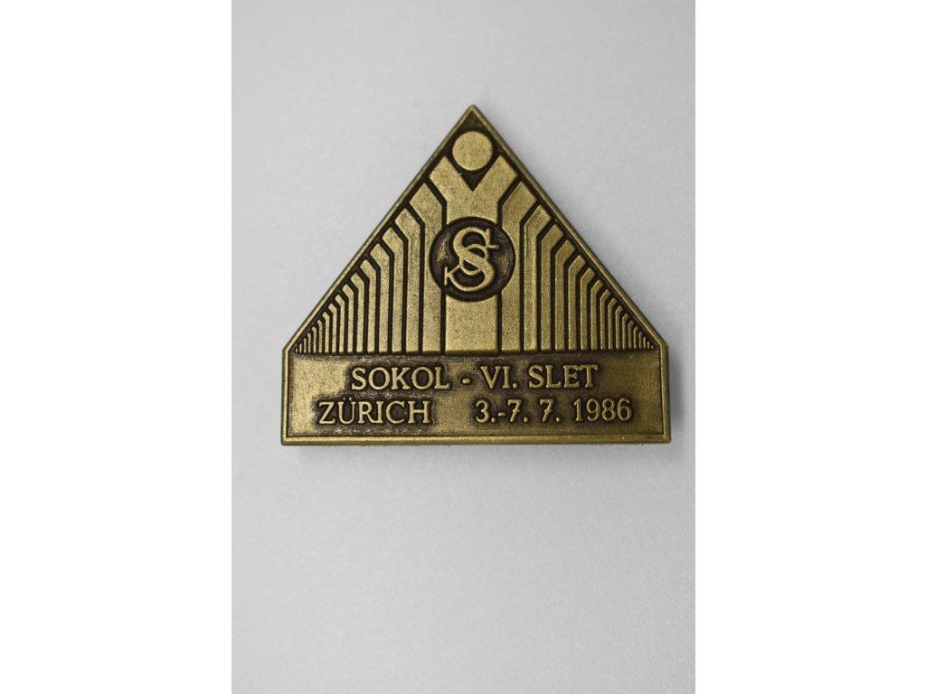 VI. Sokolský slet Curych 1986