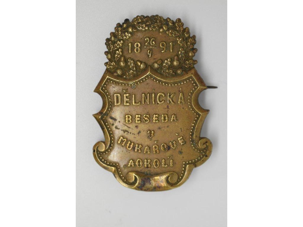 Dělnická beseda v Mukařově a okolí 1891