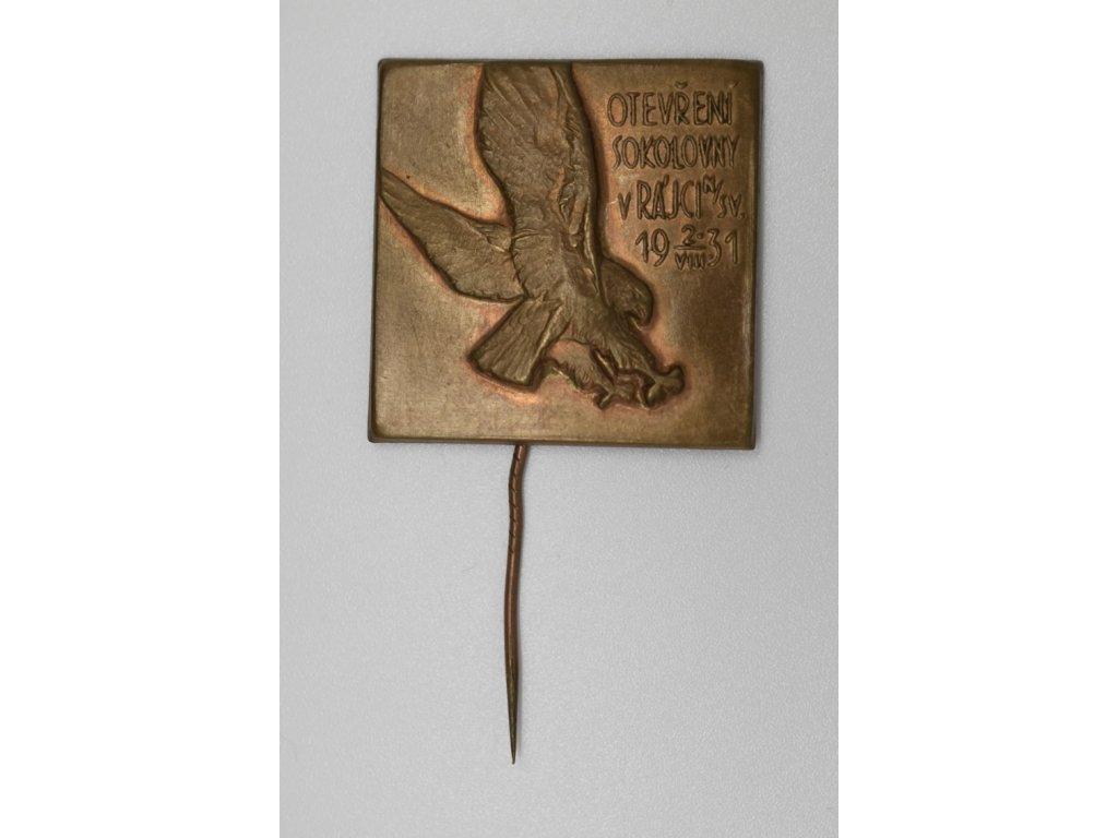 Otevření sokolovny v Rájci nad Svitavou 1931