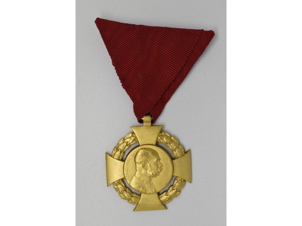 Vojenský jubilejní kříž na civilní stuze 1908