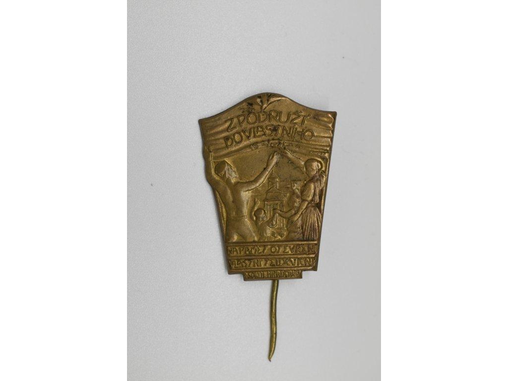 Na paměť otevření vlastní tělocvičny Sokol Hradčany 1921