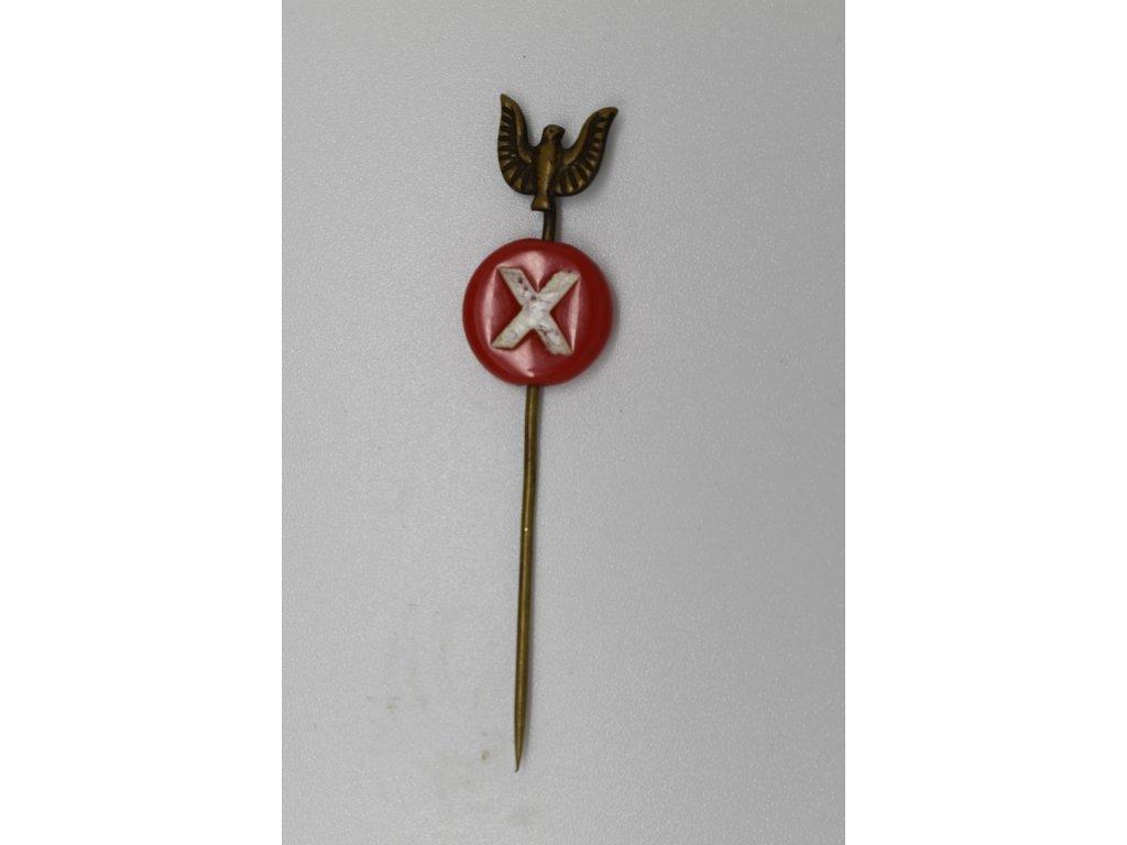 Propagační odznak X. všesokolského sletu 1938