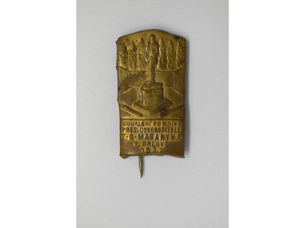 Odhalení pomníku T. G. Masaryka v Orlové 1937