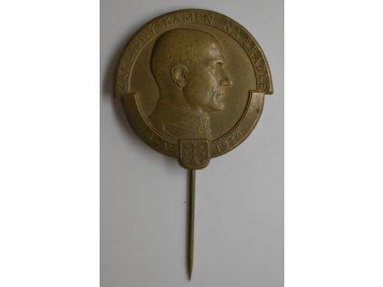 Položení základního kamene mohyly M. R. Štefánika, Bradlo 1924, Španiel
