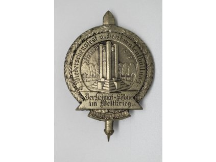 Odhalení pomníku obětem Velké války Plesná 1935