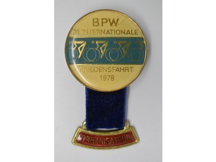 Cyklistický závod míru - Organizátor 1978