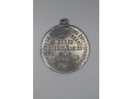 Upomínka na 28. sjezd hasičské župy Chrudimské a 35 leté trvání sboru dobrovolných hasičů v Chrudimi 1907
