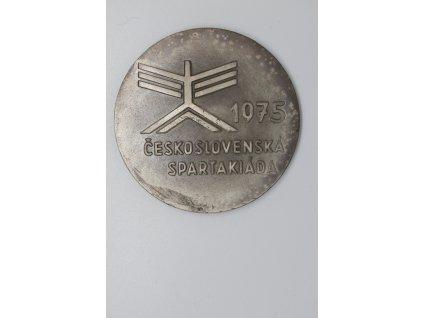 Československá spartakiáda 1975 - Za zásluhy + dekret