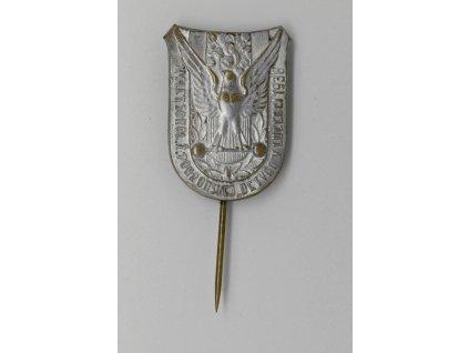 XI. Slet sokolskej župy Pohronskej Detvan v Lučenci 1938 (postříbřený)